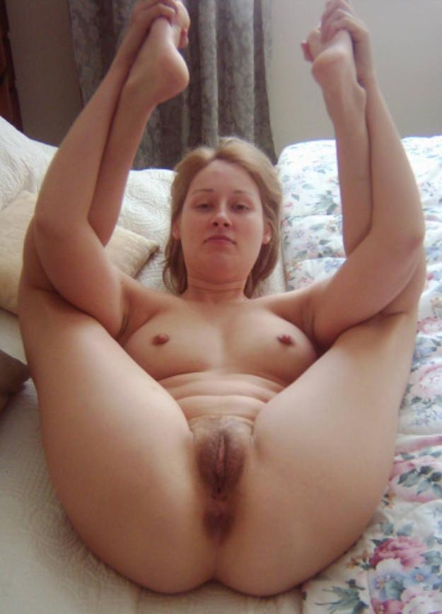 Ein sexy Foto einer haarigen Fotze