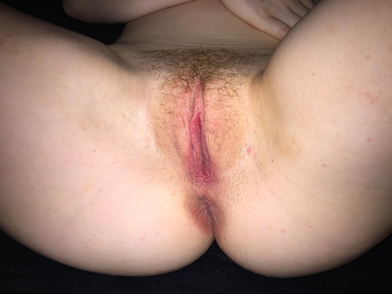 Unrasierte Vagina